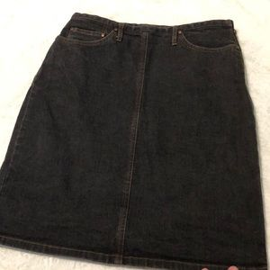 Ann Taylor denim pencil skirt!
